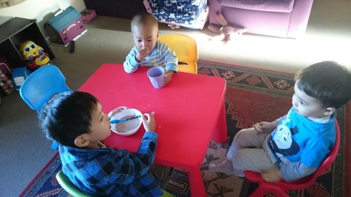 Saat baby F di day care